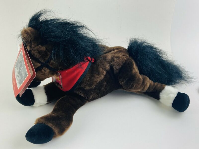 """Wells Fargo Plush Brown Horse with Tags- """" Maggie"""" with 1852 Scarf Bandana 14"""""""