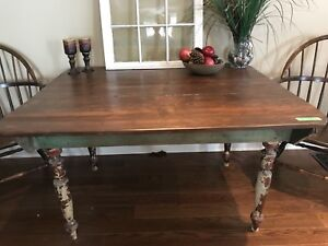 Rustic solid wood dining table or antique desk