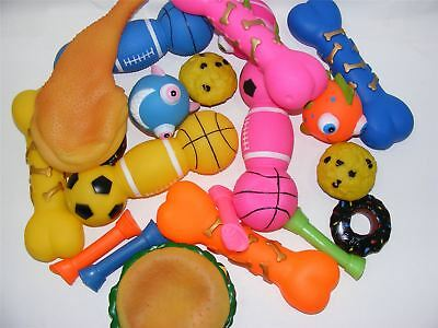 Bulk Pack of 10 Medium Bumper Selection of Squeaky Vinyl Dog Toys