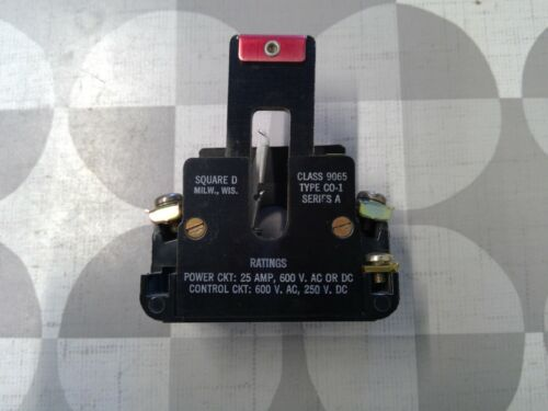Square D 9065 C0-1 Thermal Overload Holder / Reset Switch **Free Shipping**