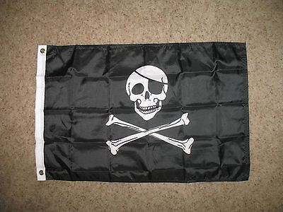 Jolly Roger With Patch Flag Super Poly 2x3 Flag Banner