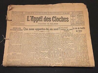 Journal - Malmédy - L'Appel des Cloches - 1939-1940 - WW2 - Lot de 21 n° - B5