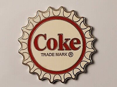 Coca-Cola Coke White Bottle Cap Lapel Pin