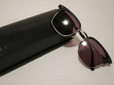 DITA NOMAD Matte Black Antique Silver Grey Lens Glasses Eyewear Sunglasses Shade