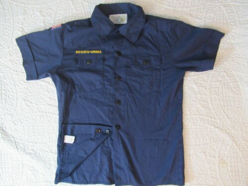 BSA Cub Scout Blue Uniform Shirt Size Youth MED SS 65Poly/35Cotton Made in China