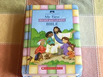 My First Read and Learn Bible Board Book Padded Cover Scholastic 2006 Learn Padded Board Book