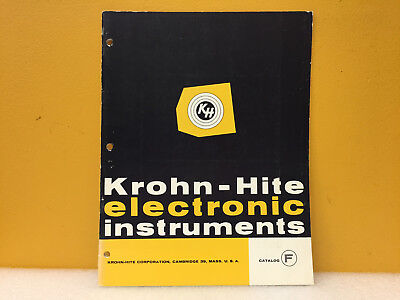 Krohn-hite 9-59-15m Catalog F Electronic Instruments