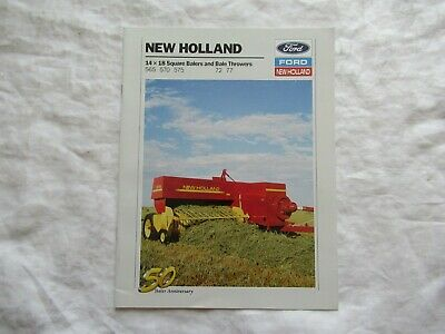 1990 Ford New Holland 565 570 575 Square Baler 72 77 Bale Throwers Brochure