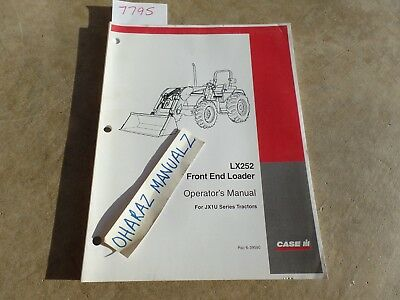 Case Lx252 Front End Loader For Jx1u Series Tractor Operators Manual 6-39590