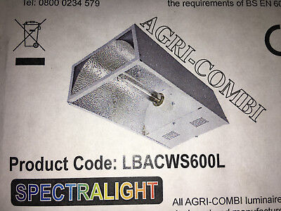 Spectralight 600W Sodium(SON) Hydrophonic Agri-Combi Growing Lamp & Fitting