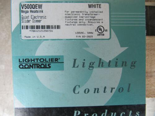 Leviton V500QEW Vega Heatsink Quiet Slide Dimmer 500W 120V P/N 83-2829 NEW!!!