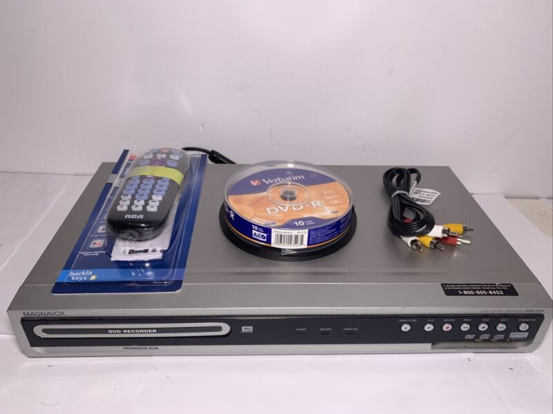 Magnavox MWR10D6 DVD Recorder/Player w/Remote And AV Cables, DVD's