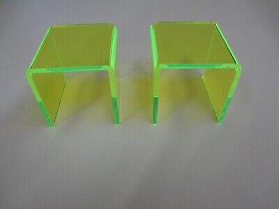 3 X 3 X 3 Neon Green Acrylic Display Risers 2 Pack