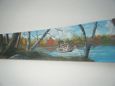 River Boat Paddle Wheel Cross Cut Saw Americana Art by L. Ashley