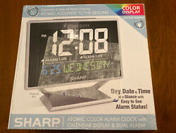 Used - Sharp SPC569 Atomic LCD Tabletop Alarm Clock - FREE SHIPPING!!!