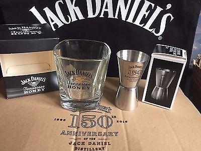 JACK DANIELS HONEY GLASS + 150th ANNIVERSARY SHOT MEASURE FROM 2016