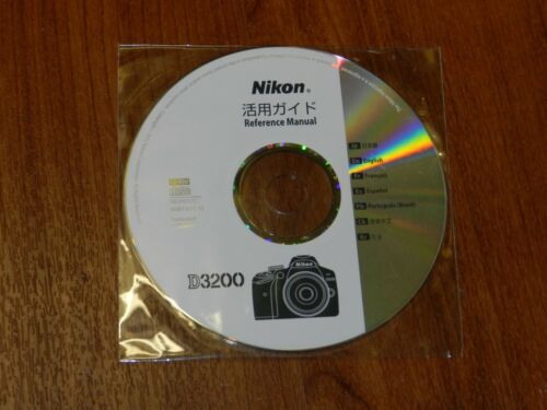 New Nikon OEM Genuine CD with User