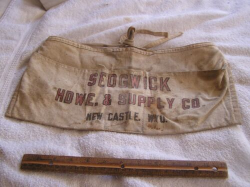 Vintage Wyoming Hardware Apron Pouch Sedgwick Hdwe. & Supply Co. New Castle