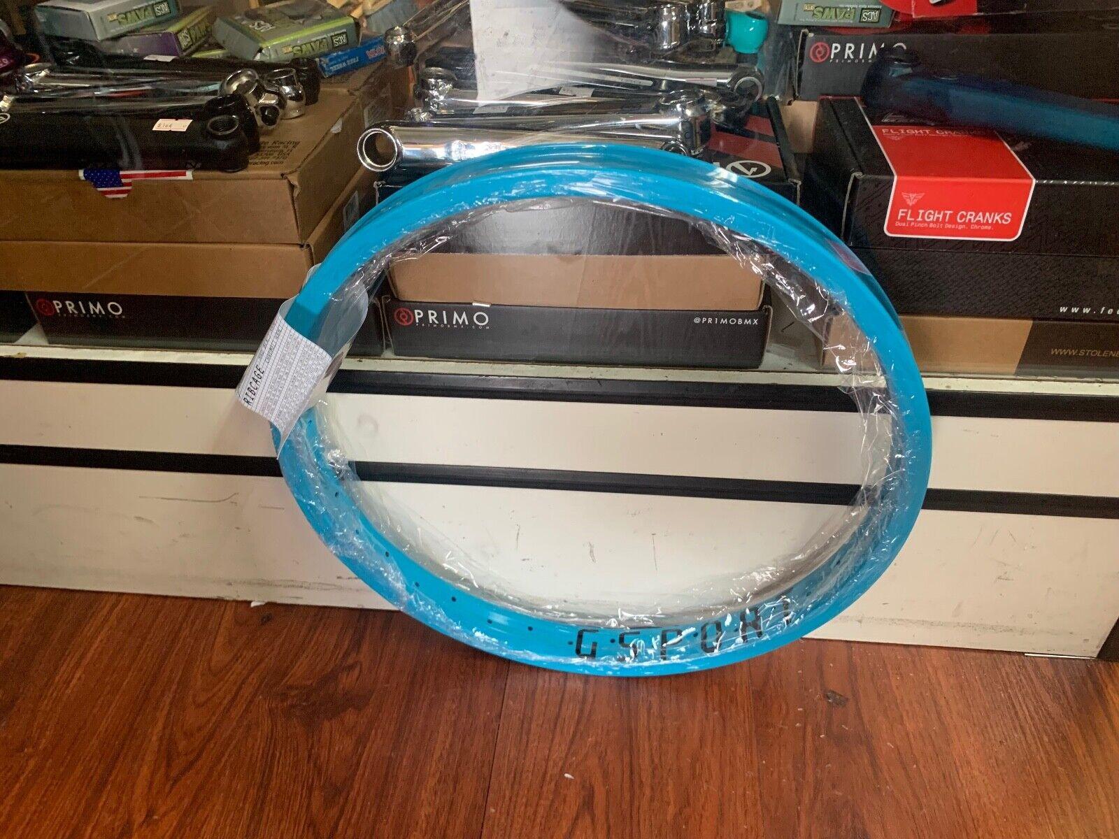 """GSPORT BMX RIBCAGE RIM 25 th CYAN Edition  20 INCH 20"""" BIKE"""