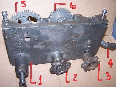 Seneca Falls Star 9x5 Metal Lathe  Apron Knob 3