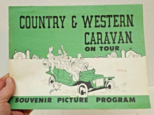 Vintage COUNTRY & WESTERN CARAVAN ON TOUR SOUVENIR PICTURE PROGRAM
