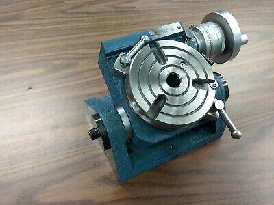 4-38110mm Precision Tilting Rotary Table Mt2 Centerheavy Duty Tsk-110in
