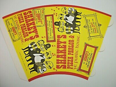 Vintage Shakey's Pizza Parlor Advertising Cardstock Paper Cone Megaphone NOS
