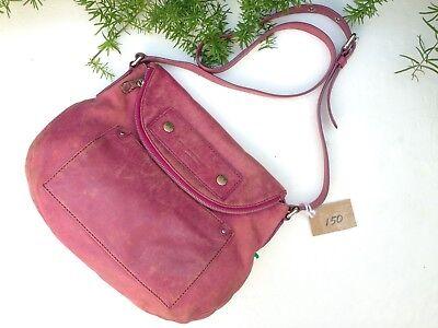 MARC BY MARC JACOBS Natasha Pink Mauve Leather Flap Crossbody Shoulder Zip Bag