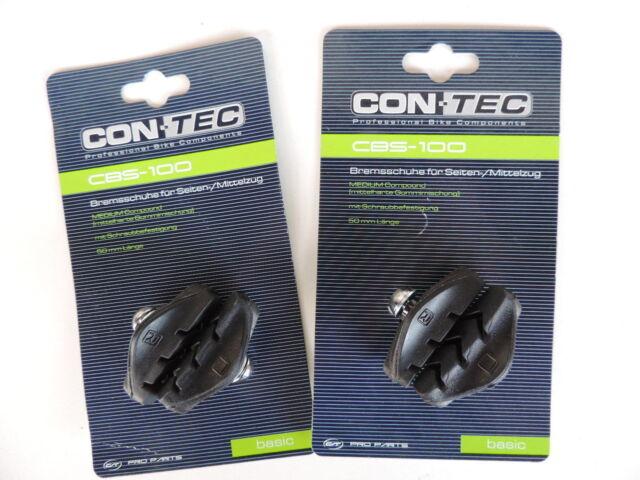 CON-TEC Bremsschuhe für Seiten-/Mittelzug CBS-100 schwarz