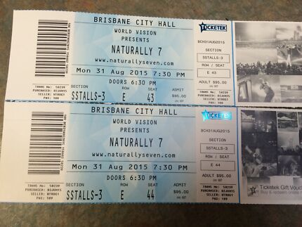 Naturally 7 Concert tickets x 2 Warner Pine Rivers Area Preview