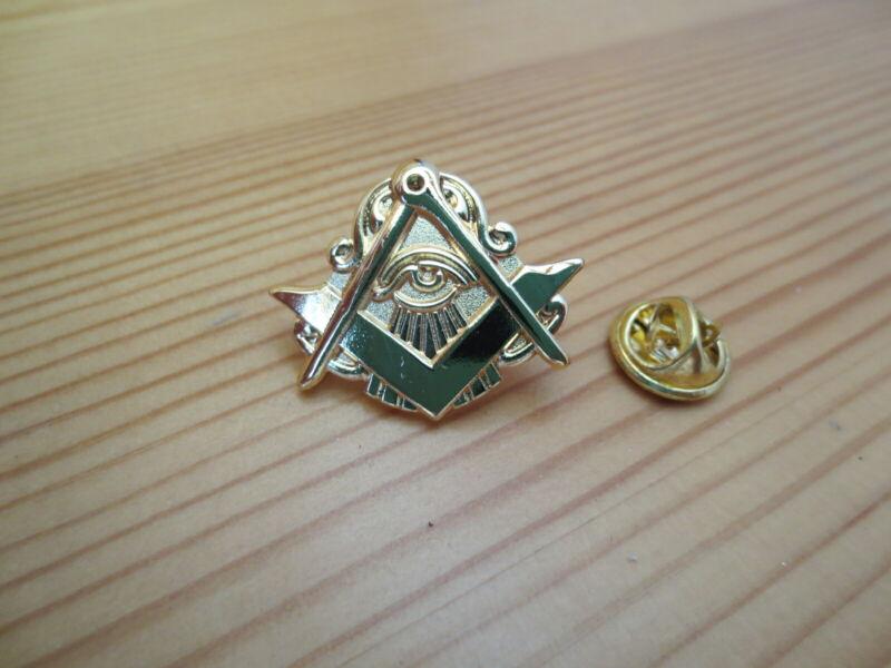 Masonic Lapel Pins Badge Mason Freemason B41 Compass And Square Eye