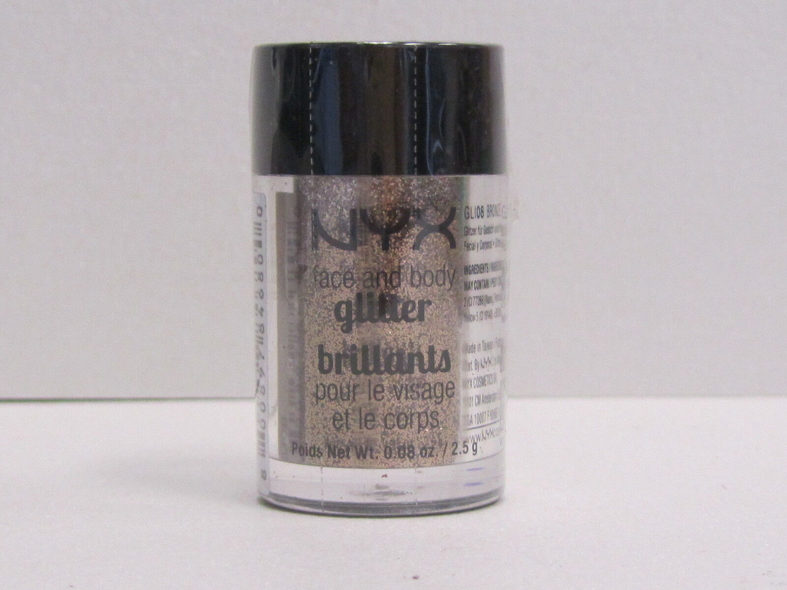 NYX Face and Body Glitter color GLI08 Bronze 0.08 oz Brand New With Sealed