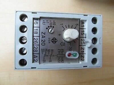 DDR EAW Relog Relais Zeitrelais 2TZ11 220V~ x0,1s PL-NR 1600 150 00 #AS-K09