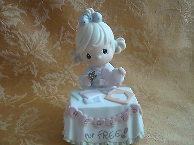 "PRECIOUS MOMENTS  ""Giving My Heart Freely"" Figurine By Enesco"