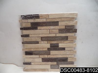 Qty= 11: G-902 Merolatile Cristallo Staggered Beige, UPC# 732763100320 TILE