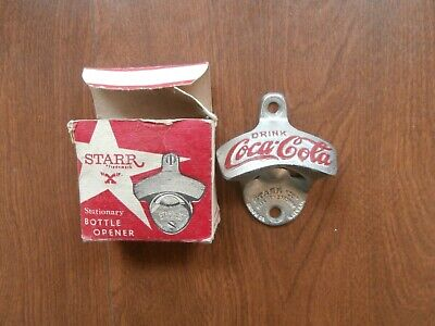 "Vintage Coca Cola Starr ""X"" Wall Mount Cast Iron Bottle Opener Made in W Germany"