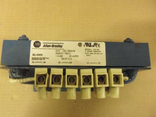 Allen Bradley 1321-3R25-B 3 Phase Line Reactor 1.2 mH 25 Amp 600v