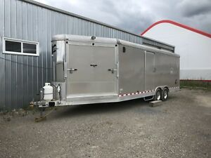 Charmac 28' Heated enclosed car/sled trailer