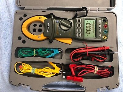Protek 667c Three Phase Digital Rms Power Clamp Meter