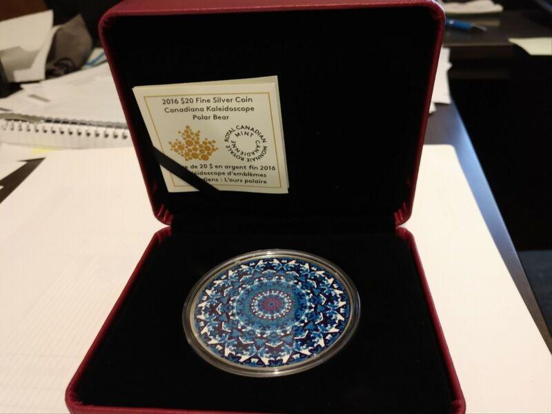 2016 Canadiana Kaleidocope Polar Bear Silver Proof Coin - Royal Canadian Mint