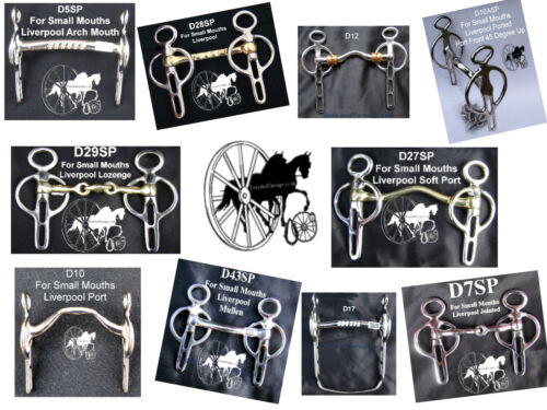 Carriage Driving Horse Bit Liverpool jointed Lozenge KK-Glory Myler (16 Styles)