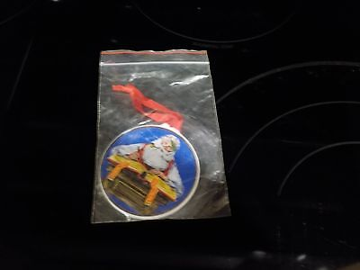 "NORMAN ROCKWELL'S ""CHECKING HIS LIST"" 1984 CHRISTMAS TREE ORNAMENT~~NEW"