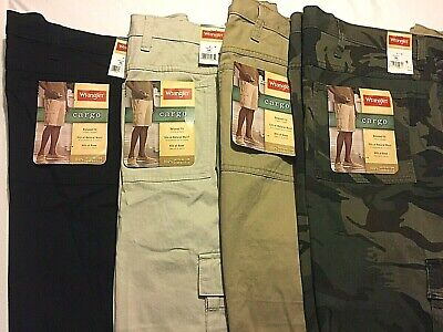 Wrangler CARGO Relaxed Fit Men Shorts - You Pick - Hits At Knee Casual Walking (Fit Knee Short)