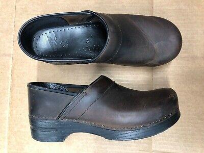 Mens Dansko Professional Clogs Brown Antique Leather Size 9.5 10 EUR 43  Dansko Mens Clogs