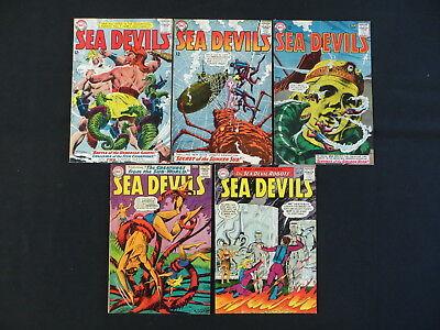 SEA DEVILS 5 ISSUE SILVER AGE COMIC LOT #14-16,18,19