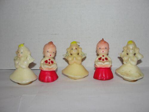 (5) VINTAGE MINI GURLEY CHRISTMAS CANDLES