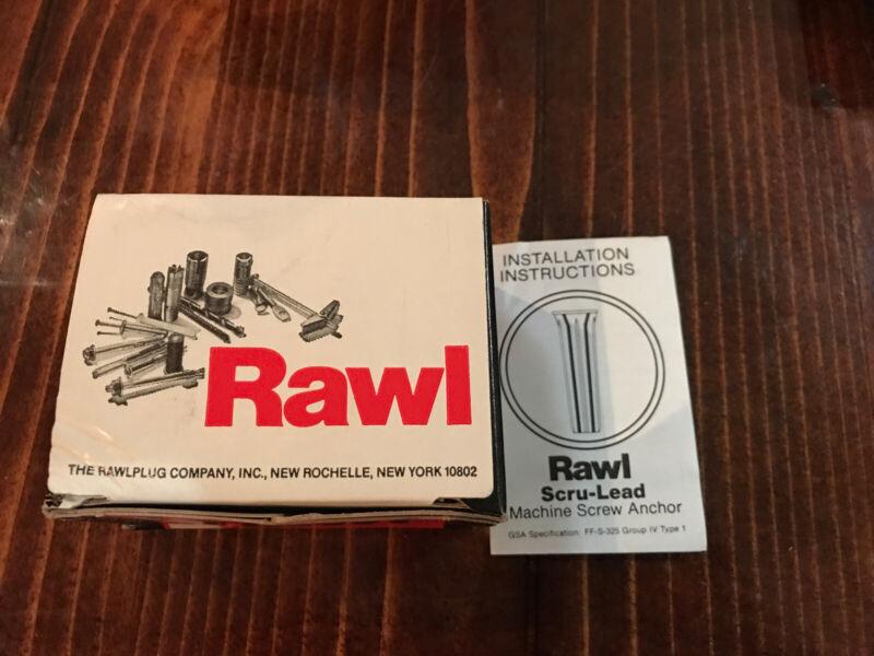 100 New Rawl Scru-Leads 6-8 X 1 Inch, Macine Screw Anchor