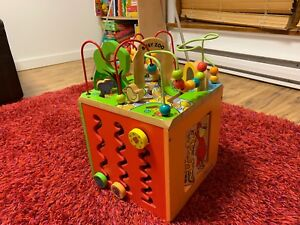 Wooden Activity Cube - Parents Busy Zoo