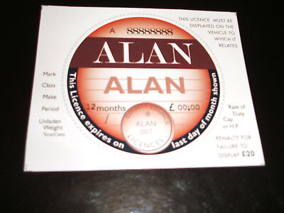 TAX DISC REMINDER....NAMES.....FREE DISC HOLDER..FREE POSTAGE.52