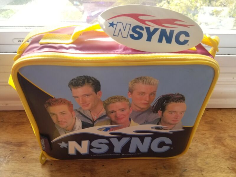 1999 Vintage Nsync lunchbox thermos original brand new never used.. 🎤🎶🔥🔥